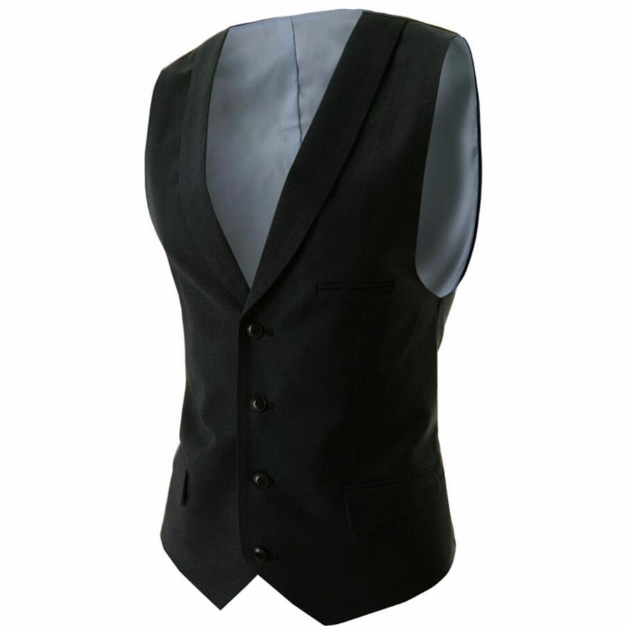 9.1 Suit Vest Breasted four Buttons Designer Waistcoats Men Jackets Sleeveless Slim Fit Casual men waistcoat
