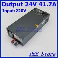 Светодиодный драйвер 1000 Вт 24 В 41.7a один Выход AC 220 В к DC 24 В Переключение блок питания для светодиодные ленты свет