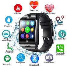 Smart Watch With Camera  Q18 Bluetooth Smartwatch SIM TF Card Slot Fitness Activity Tracker Sport Watch For Android цена