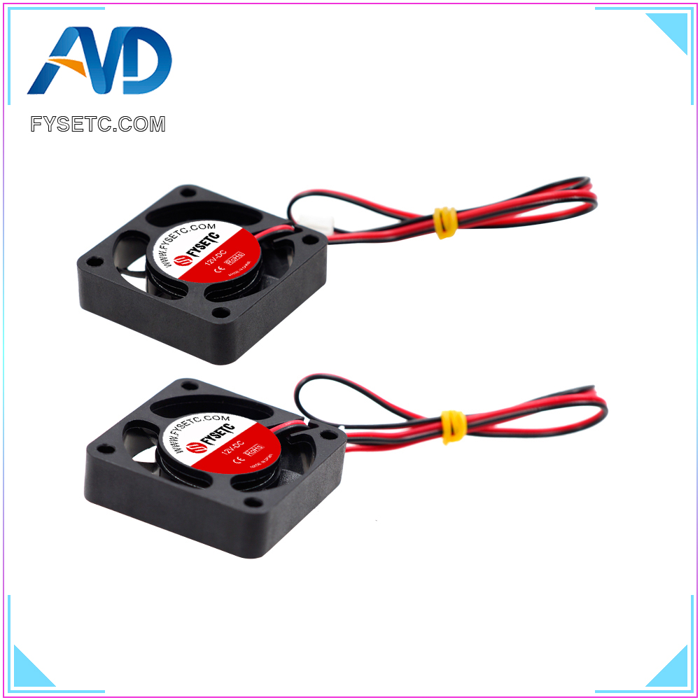 4pcs 4010 Cooling Fan 12V 2 Pin With Dupont Wire Brushless 40*40*10 Cool Fans Part Quiet DC 40m Cooler Radiato 3D Printers Parts