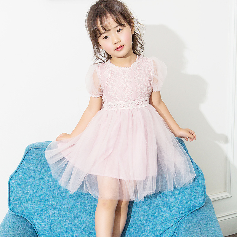 Summer Baby girls Children Clothing puff sleeve lace tutu dress For Girls Birthday Outfits Teenager Girl Kids Ball Party Wear 2016 summer children s clothing champagne girls tutu dress for party lace layer back hollow kids dress for baby girls a121