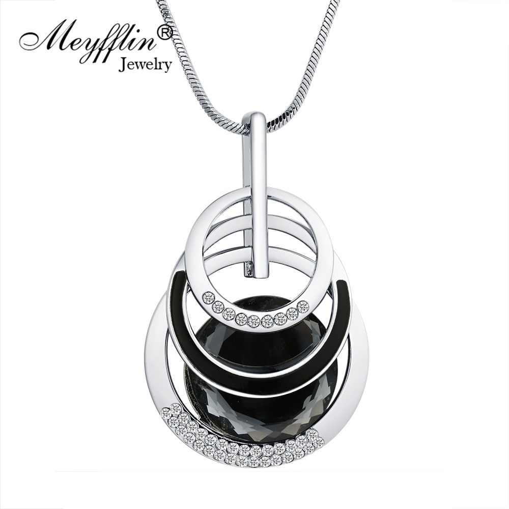 c365388aed6c Meyfflin Collier Femme collares y colgantes para las mujeres ronda collar  de declaración Maxi Colar Cadena