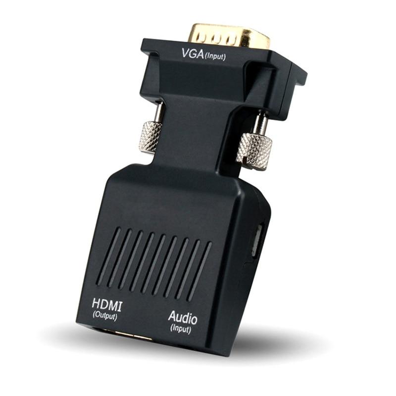 Rankman VGA штекер HDMI Женский конвертер с аудио адаптером кабели 720/1080P для HDTV монитор проектор ПК ноутбук ТВ-коробка PS3