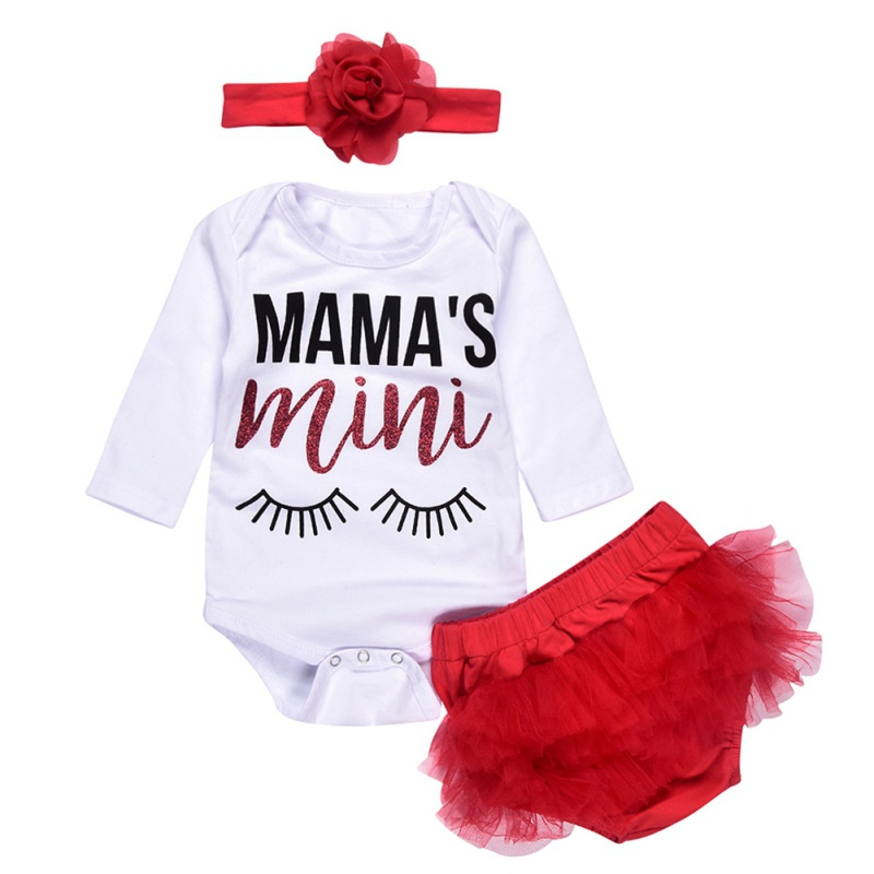 Baby Girl Clothing Infant Clothes Set Long Sleeve Romper + Tulle PP Pants + Floral Headband For 0-2 Years