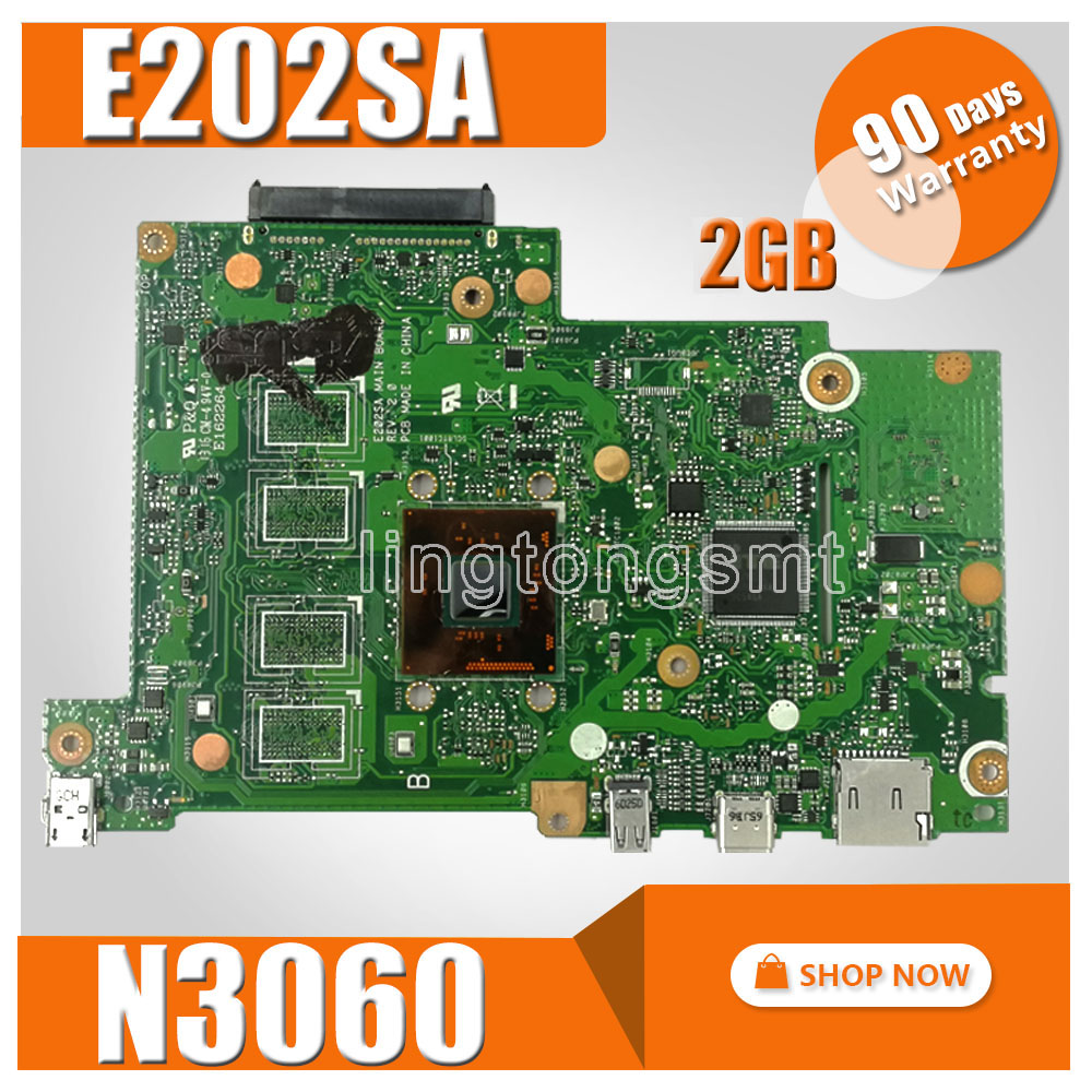 E202SA motherboard N3060 CPU 2GB RAM For ASUS E202S E202SA laptop motherboard E202SA mainboard E202SA motherboard