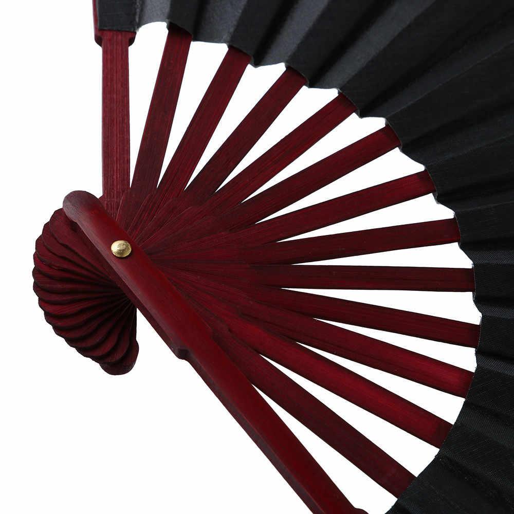Decorative Fans Bamboo And Silk Hand Held Fan Men's Folding Blank Handcuffs  Pocket Compartments Fan Drop shipping Aug10 Decorative Fans  - AliExpress