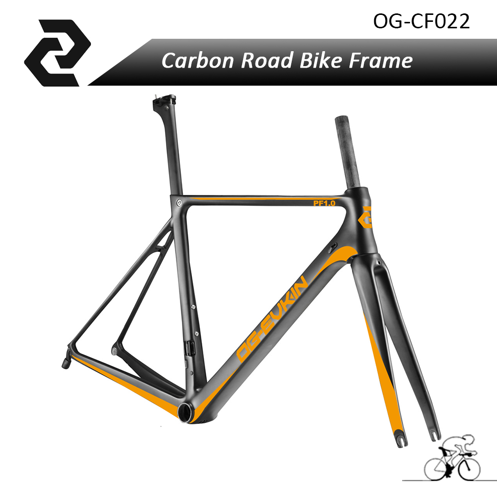 2018 hot selling Carbon road frame UD Di2 glossy road frameset 46 49 52 54 56cm BB86 Chinese bike Frame cf022 OG-EVKIN поиск семена василёк фрости