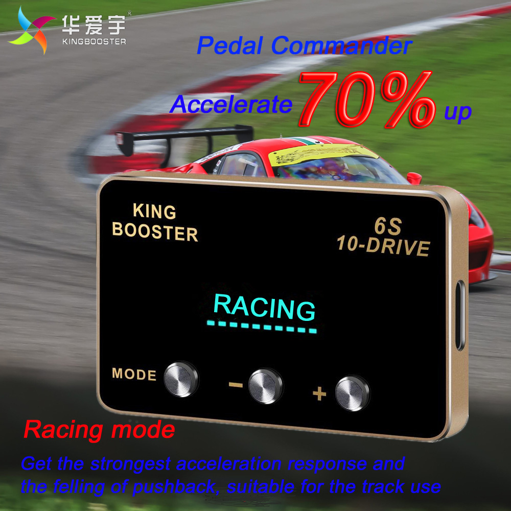 KINGBOOSTER Car Electronic Throttle Controller Automative Gas Pedal Booster Accelerator Commander For Ford Transit 2007+