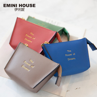 EMINI HOUSE Women's Purse For Coins Genuine Leather Pouch Mini Small Bag Wallet For Girls Exquisite Design Zipper Clutch Bag