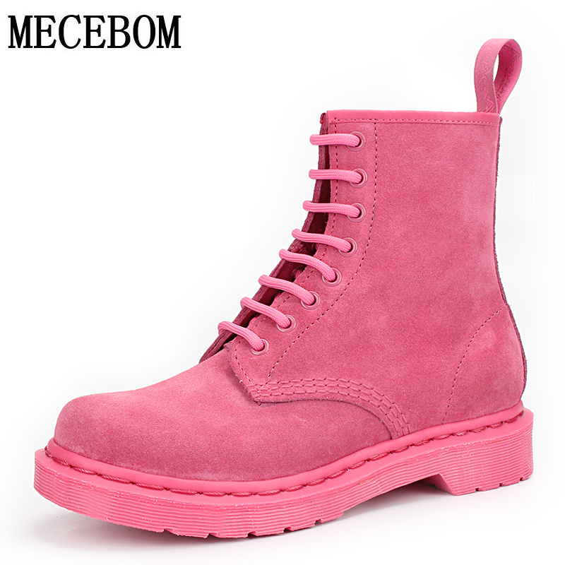 Women British shoes martin Boots genuine leather boots Women Autumn winter Ankle Boots female espadrilles exquisite sapato