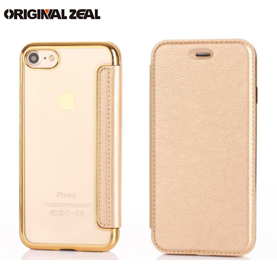 best service ef2b0 ea299 Aliexpress.com : Buy i7/i8 Plus Luxury Clear Back Soft TPU+Leather Case  Electroplating Flip Cover For iPhone 6 6s Plus 7 7plus X Card Holder from  ...
