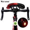 WEST BIKING велосипедный задний светильник  5 режимов  водонепроницаемый светодиодный задний фонарь Предупреждение ющий  безопасный велосипедн...