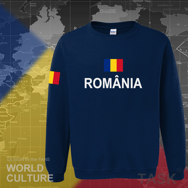 Romania Romanian ROU hoodies men sweatshirt sweat new hip hop streetwear tracksuit nation footballer sporting 2017 country 2