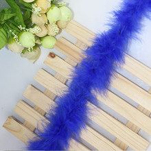 2m Dress Ribbons Soft Party Decor Trimming String Plush Artificial Feather Fluffy DIY(China)