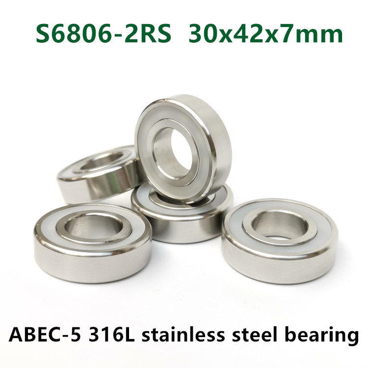 1pc Full Complement Ceramic ZrO2 Ball Bearing Bearing 6800 to 6816