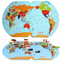 New Large Map Of The World Put Flags Early Lessons Intelligence Children's Jigsaw Puzzle