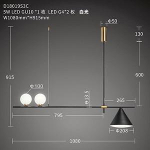 Image 4 - 現代の Led シャンデリア北欧照明レストランペンダントランプダイニングルーム器具リビングルームノベルティライトハンギング
