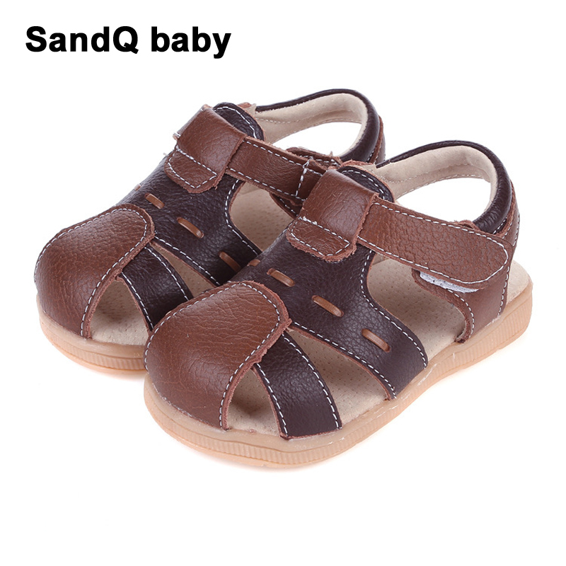 Boys Sandals 2020 Summer Genuine Leather Kids Sandals Slip-resistant Breathable Sandals For Boys Patchwork Baby Toddler Shoes