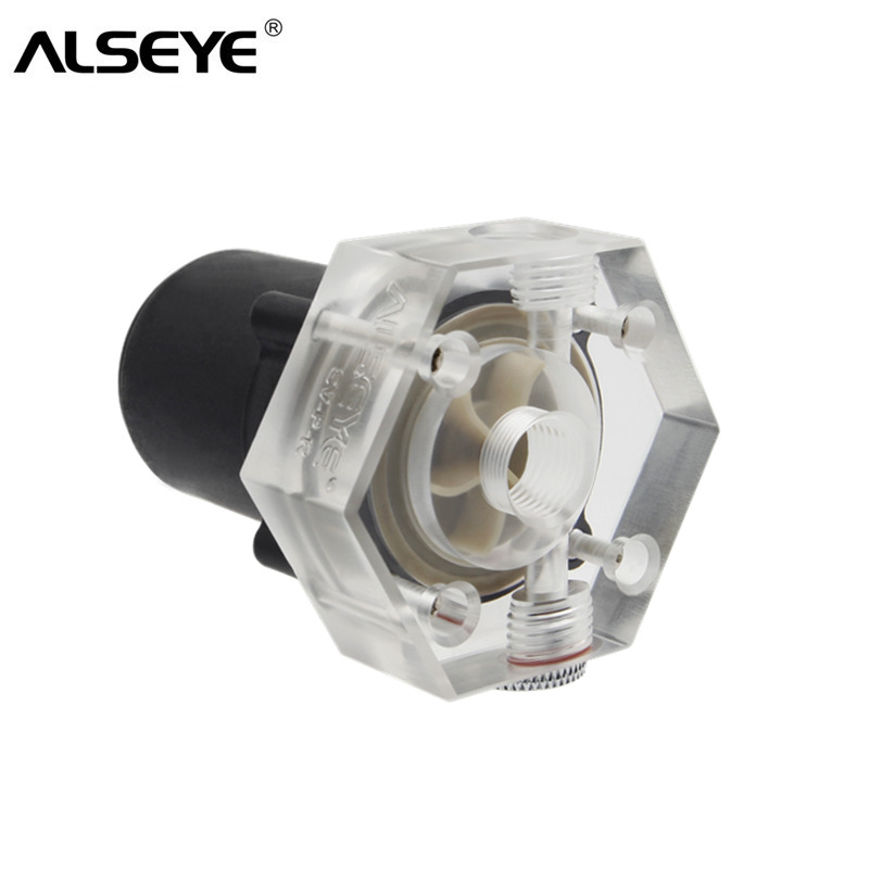 ALSEYE PC Water Cooling Pump HQ 6M DC 12V Pump for CPU Water Cooler 10000RPM G1/4 Thread for Gaming CPU and GPU isw 100 100a water pump 4 inch horizontal inline pump for sale