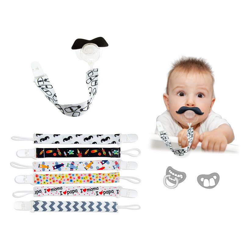 Baby Pacifier Clip Soother Chain Baby Boys Girls Pacifier Holder Loop Hang Rope Baby Nipple Buckle Strap Holder Newborns Feeding