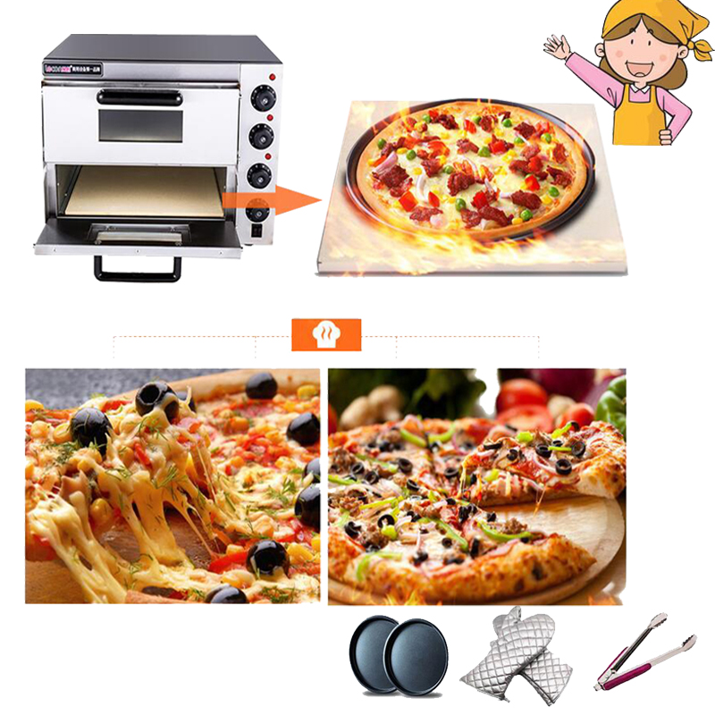 Electrical Stainless Steel Home/Commercial Thermometer Double Pizza Oven/ Mini Baking Oven/Bread/Cake Toaster Oven PO2PT 2 in 1 stainless steel pizza shovel pizza scissor red silver