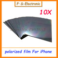 10pcs LCD Polarizer Film Polarization for iPhone 4 4s 5 5s 5s 5c 6 6s Plus 5.5 LCD Screen Filter Polaroid Polarized Light Film