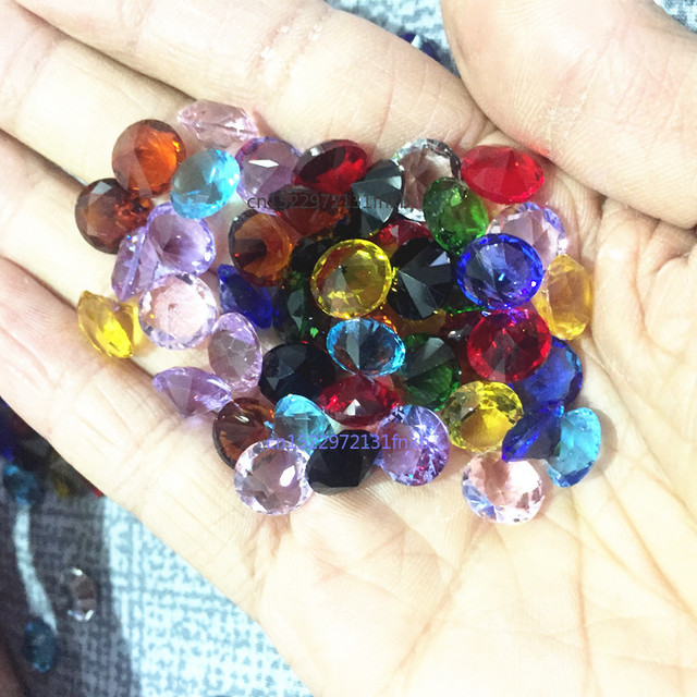 10MM 10pcs Dimeter Crystal Diamond Rainbow Glass Beads Feng Shui Sphere Crystals Decorative Craft Gift Wedding Home Vase Decor 2