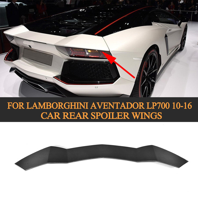 Carbon Fiber Car Rear Lip Wings Spoiler Case For Lamborghini Aventador  LP700 LP700 4 Roadster