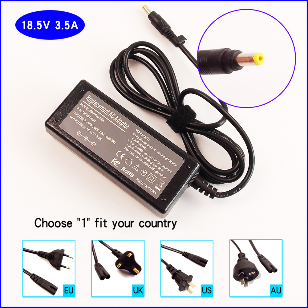 18.5V 3.5A LaptopNotebook PC Ac Adapter Battery Charger for HP Pavilion dm3-1130us dv2415nr dv2615nr dv6810us dd522av