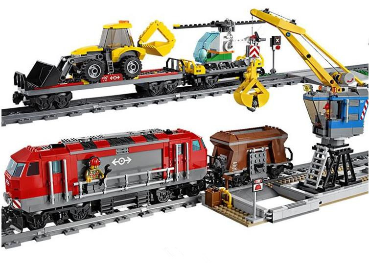 Compatible Legoe City 60098 Lepin 02009 Engineering Remote Control RC Train Figure building blocks Bricks toys for children woma engineering architecture education model urban engineering vehicles building blocks children toys compatible with legoe