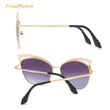 New Fashion Cat Eye luxury 2018 Sunglasses Women Brand Designer Twin-Beam Mirror Men Sun Glasses Vintage Female oculos de sol