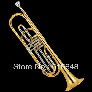 Customizable Bb Trumpet Professional Iinstrument For Student B Flat Brass Tube And Gold Plated Surface With Case Mouthpiece professional silver gold plated marching french horn bb monel valves with case