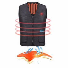 Electric USB Heated Vest Warm Heat Jacket Winter Clothes Men Thermal Outdoor Sleeveless for Hiking Climbing Fishing