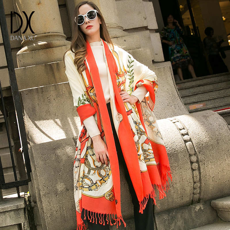 Bufandas de lana de moda para mujer, bufandas de diseñador, bufandas de otoño e invierno