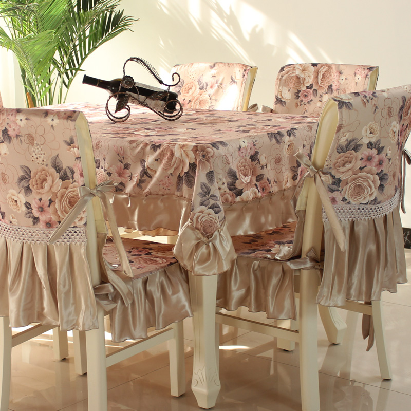 Hot Sale Fashion Dining Table Cloth Chair Covers Cushion Tables And Chairs  Bundle Chair Cover Rustic Lace Cloth Set Tablecloth In Tablecloths From  Home ...