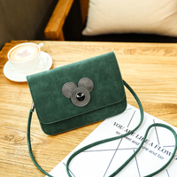 2017 nuevos bolsos de la moda cruz Mickey cabeza pequeña bolsa de hombro de las señoras bolsos retro bolso del teléfono móvil