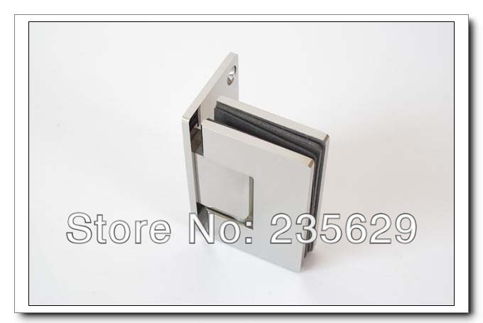 Free Shipping, 304 Stainless Steel 90 degree shower hinge,glass clamp,shower clamp, Mirror finished, Easy installation,durable - 2