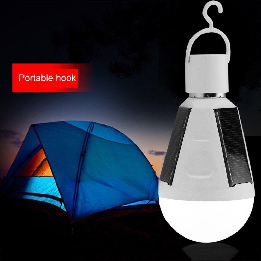 Waterproof E27 Solar Emergency Light 7W 85-265V Solar Lamp Portable E27 LED Bulb Built-in Sensor Energy Saving Solar Panel