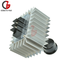 220 В 5000 Вт регулятор напряжения SCR регулятор скорости двигателя диммеры с затемнением термостат регулятор скорости для светодиодного освещения