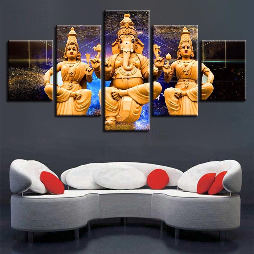Modular Modern Pictures Framework 10 Pieces HD Printing India Tibetan  Buddhism Ganesha Canvas Painting Decor Wall Art Living Room