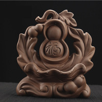 Gourd Backflow Incense Burner Smoke Waterfall Stick Holder Censer Purple Clay Aroma Ceramic Censer Home Decor Use In Home Office