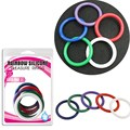 5in1 Rainbow Penis Ring Silicone 4.0cm Cockring Cock Ring  Colorful Sex Ring for Male Delay Ejaculation Adult Product B2-2-11