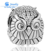 925 Sterling Silver Charm Owl Doctor European Charms Silver Beads For Chain Bracelet DIY Jewelry Argent