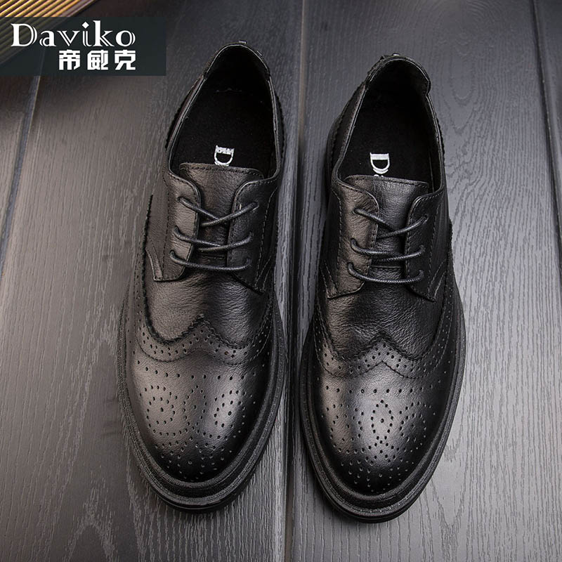 Bullock men's shoes British leather casual shoes thick round carved tide shoes men's series with retro Korean shoes men 288-4 2016 summer new retro british style men s business suits round leather shoes shoes oxford shoes bullock carved free shipping