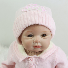 Lovely Sweet Lifelike Reborn Silicone Babies Doll 22 Inch 55 cm Cloth Body Newborn Pink Girl With Lovely Clothes Kids Playmate