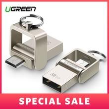 Ugreen USB Flash Drive 64 ГБ Металла Pendrive High Speed USB Памяти Stick 32 ГБ pen Drive Реальная Емкость 16 ГБ USB Флэш-диск U