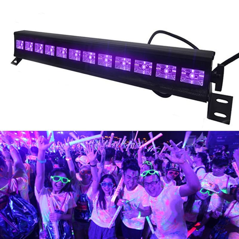 12 LED Disco UV Violet Black Lights DJ 36W Par Lamp for UV Party Light Bar