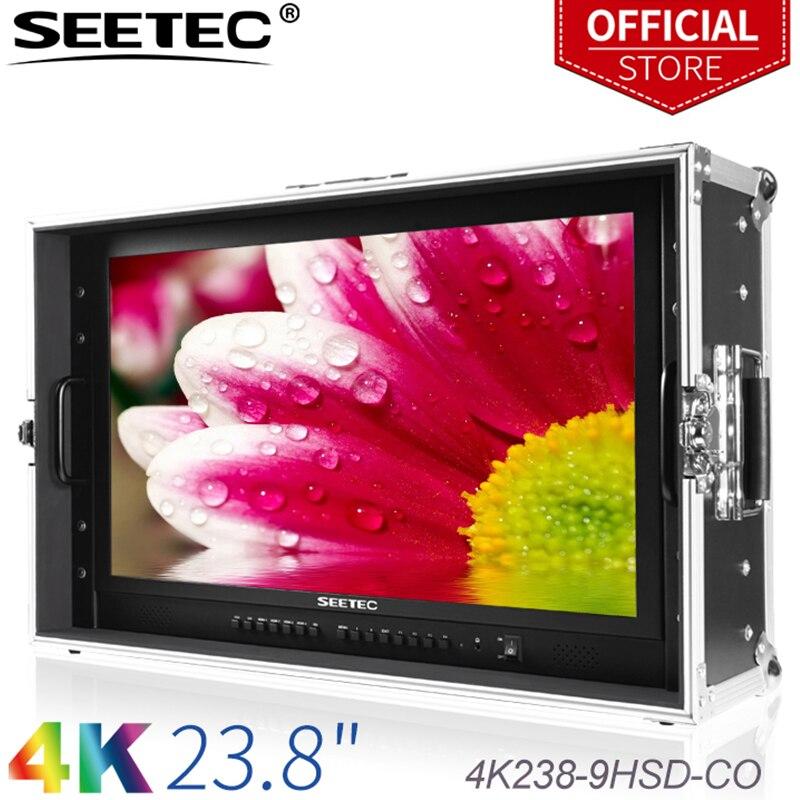 SEETEC 4K238 9HSD CO 2160 4 К 3840x23,8 UHD широковещательный монитор для видеонаблюдения Мониторинг изготовление фильмов переноска на ЖК монитор