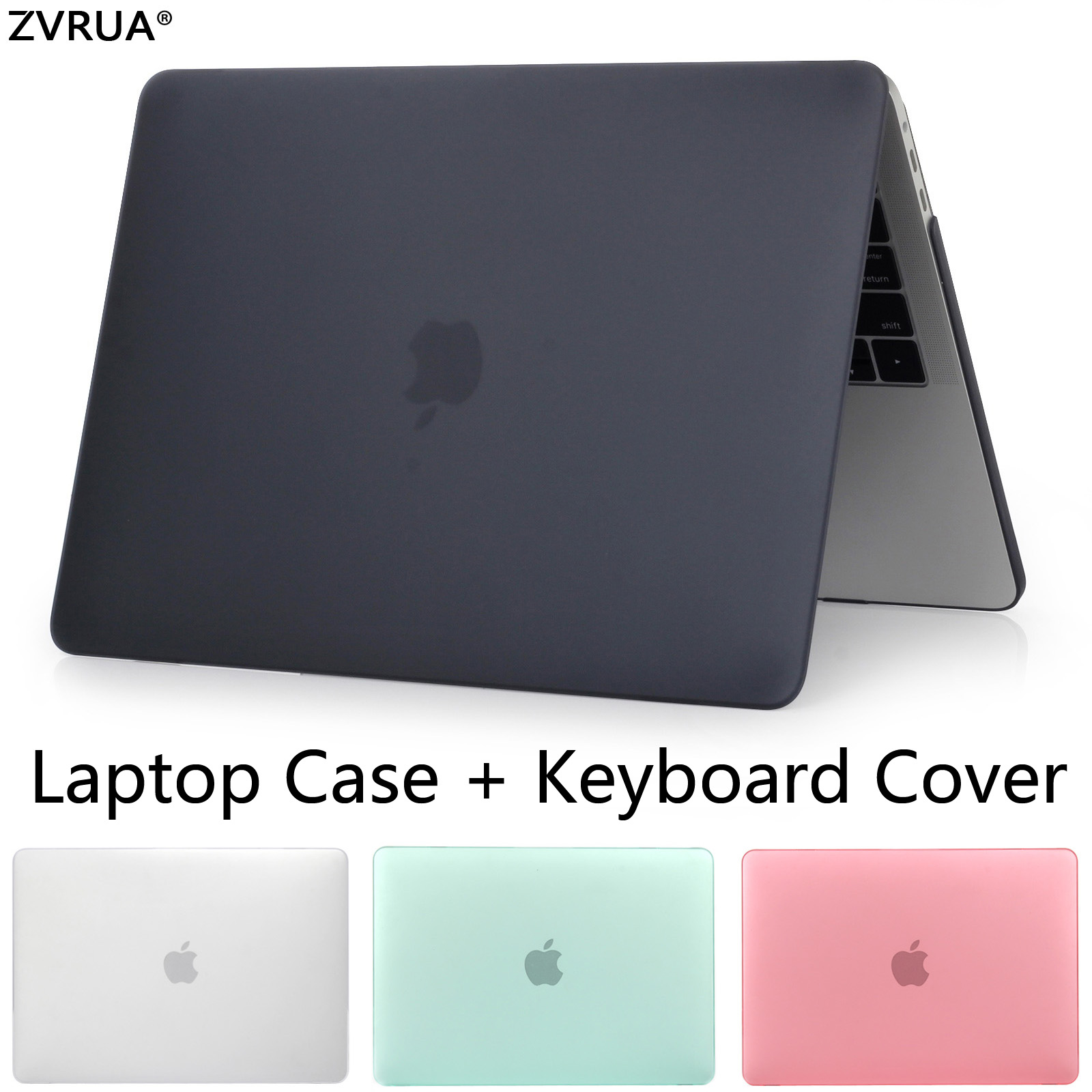 ZVRUA HOT Sell laptop Case For Apple macbook Air Pro Retina 11 12 13 15 For Mac book 13.3 inch with Touch Bar +Keyboard Cover
