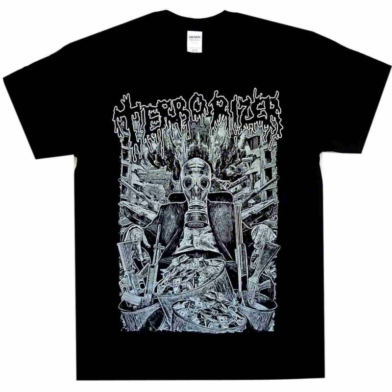 Tops & Tees Terrorizer Gas Mask Shirt S M L Xl Xxl T-shirt Death Metal Tshirt New Activating Blood Circulation And Strengthening Sinews And Bones